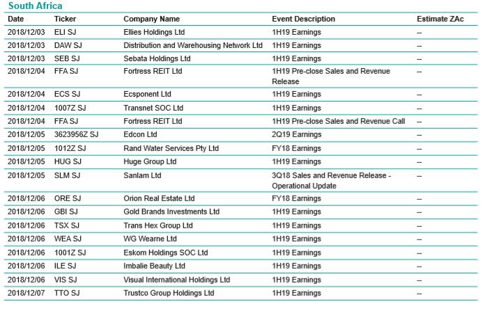 Company Events Calendar